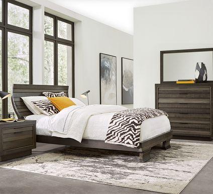 River Street Graphite 5 Pc King Scoop Bedroom