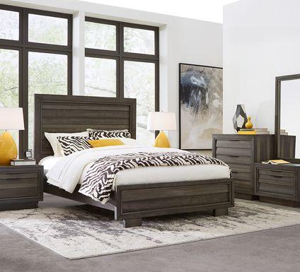 River Street Graphite 6 Pc King Panel Bedroom
