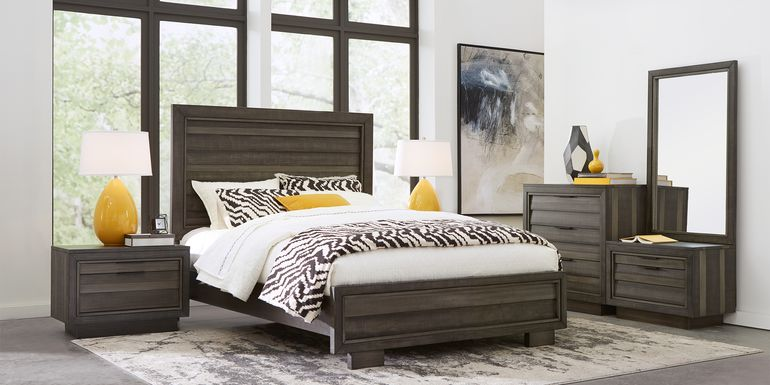 River Street Graphite 6 Pc King Panel Bedroom