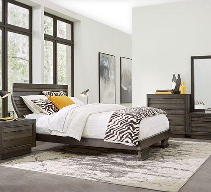 River Street Graphite 6 Pc King Scoop Bedroom