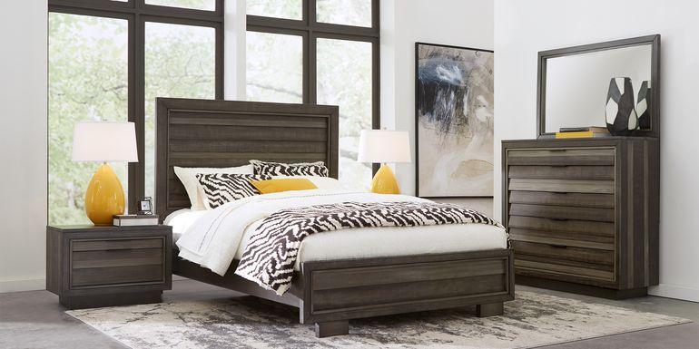 River Street Graphite 7 Pc King Panel Bedroom