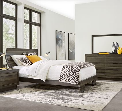 River Street Graphite 7 Pc King Scoop Bedroom