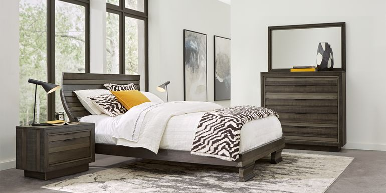 River Street Graphite 7 Pc Queen Scoop Bedroom
