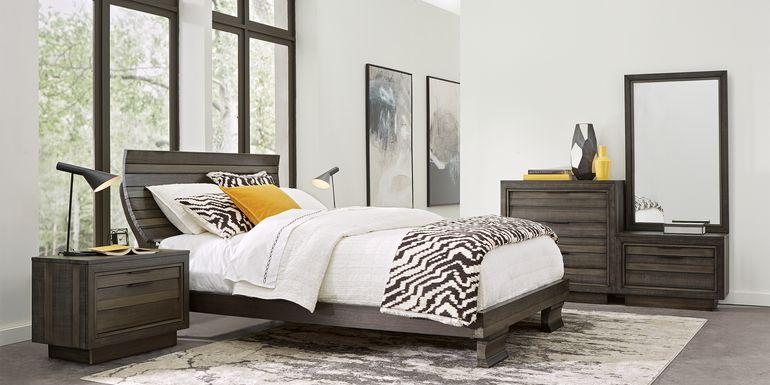 River Street Graphite 8 Pc King Scoop Bedroom