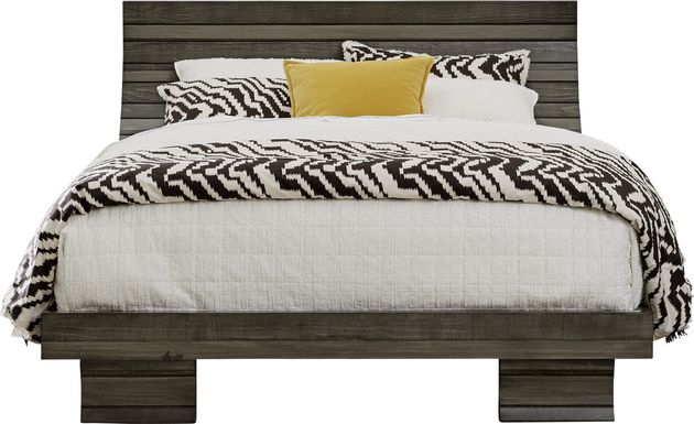 River Street Graphite 3 Pc King Scoop Bed