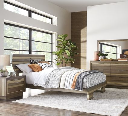 River Street Mocha 5 Pc Queen Scoop Bedroom