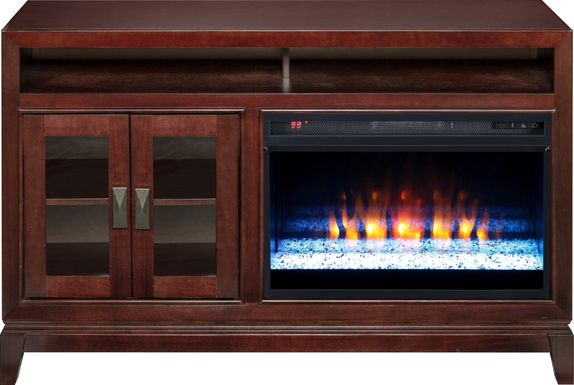 River Terrace Merlot 52 in. Console with Electric Fireplace