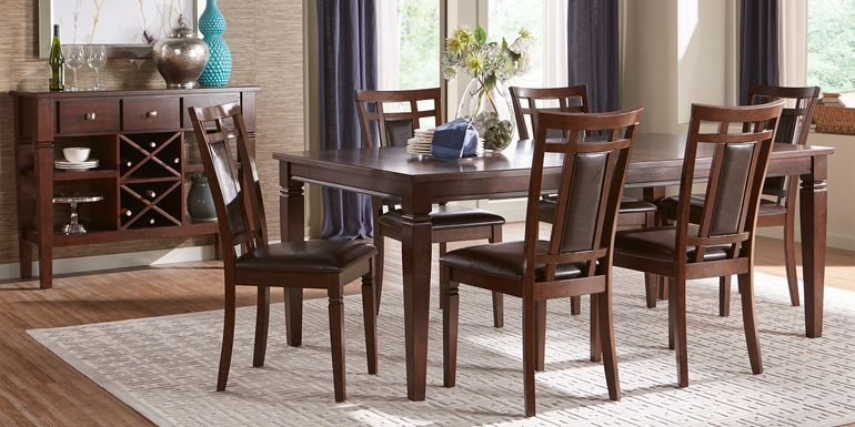 Riverdale Cherry 5 Pc Rectangle Dining Room with Upholstered Back Chairs