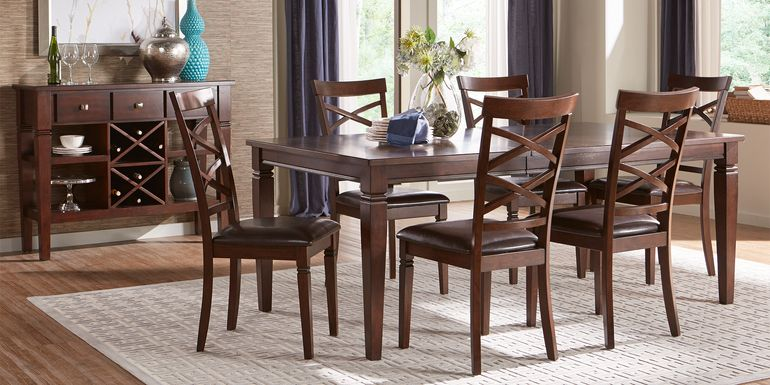 Riverdale Cherry 5 Pc Rectangle Dining Room with X-Back Chairs