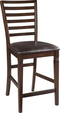 Riverdale Cherry Ladder Back Counter Height Stool