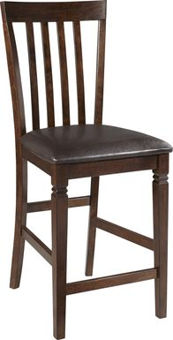 Riverdale Cherry Slat Back Counter Height Stool