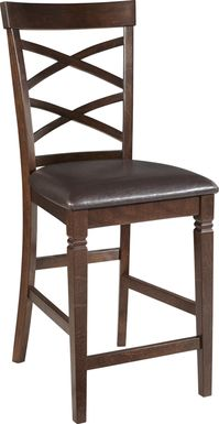 Riverdale Cherry X-Back Counter Height Stool