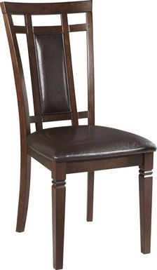 Riverdale Cherry Upholstered Back Side Chair