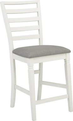 Riverdale White Ladder Back Counter Height Stool