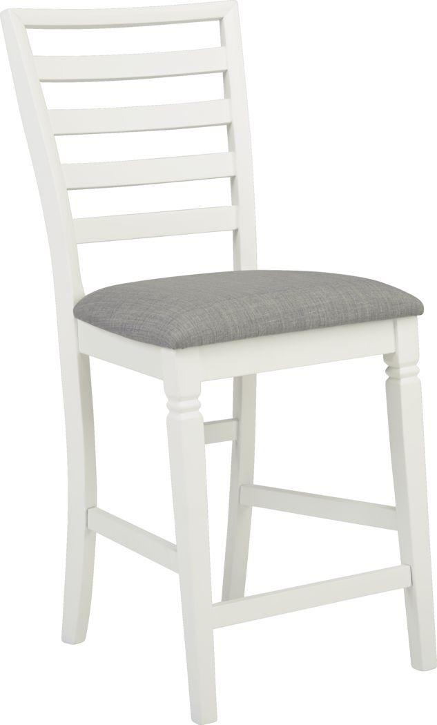 Riverdale White Ladder Back Counter Height Stool