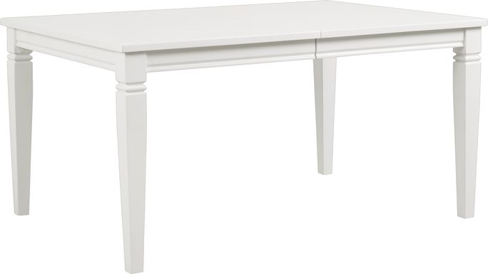 Riverdale White Rectangle Dining Table