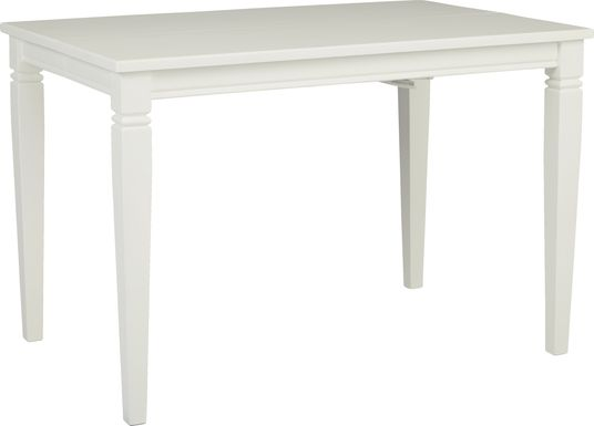 Riverdale White Square Counter Height Dining Table