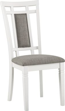 Riverdale White Upholstered Back Side Chair