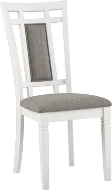 Riverdale White Upholstered Back Side Chair