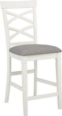 Riverdale White X-Back Counter Height Stool