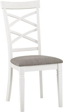 Riverdale White X-Back Side Chair