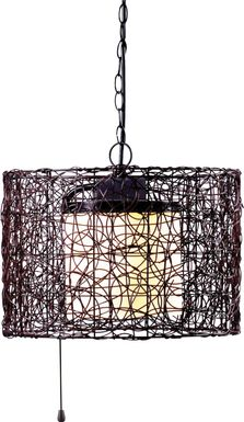 Roanoke Island Black Outdoor Chandelier