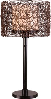 Roanoke Island Brown Outdoor Lamp