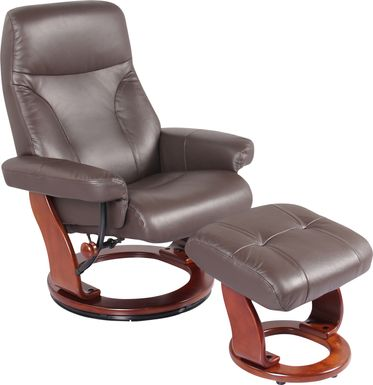 Rosaria Brown Recliner & Ottoman