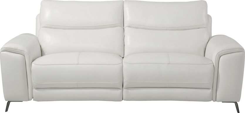 Rosato White Leather Power Reclining Sofa