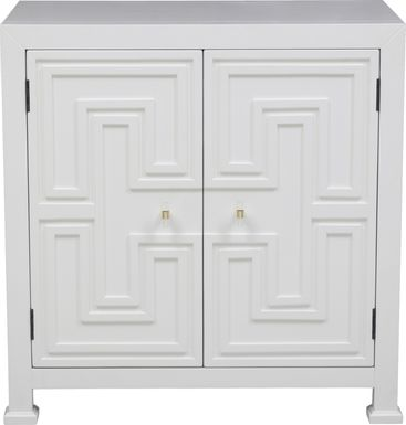 Roselawn White Accent Cabinet