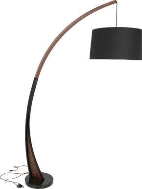 roseneath walnut floor lamp