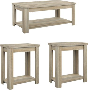 Rosestone Natural 3 Pc. Occasional Table Set