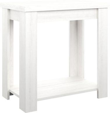 Rosestone White End Table