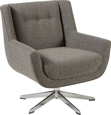 Rossello Brown Accent Swivel Chair