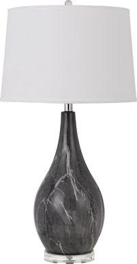 Rothmoor Circle Charcoal Lamp