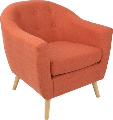 Rozelle Orange Accent Chair
