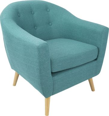 Rozelle Teal Accent Chair