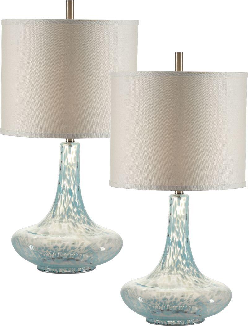 Rubery Cove Blue Lamp, Set of 2