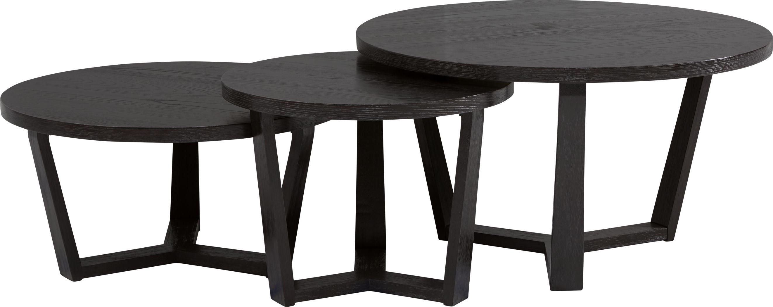 Rumie Dark Brown 3 Pc Nesting Cocktail Table Set