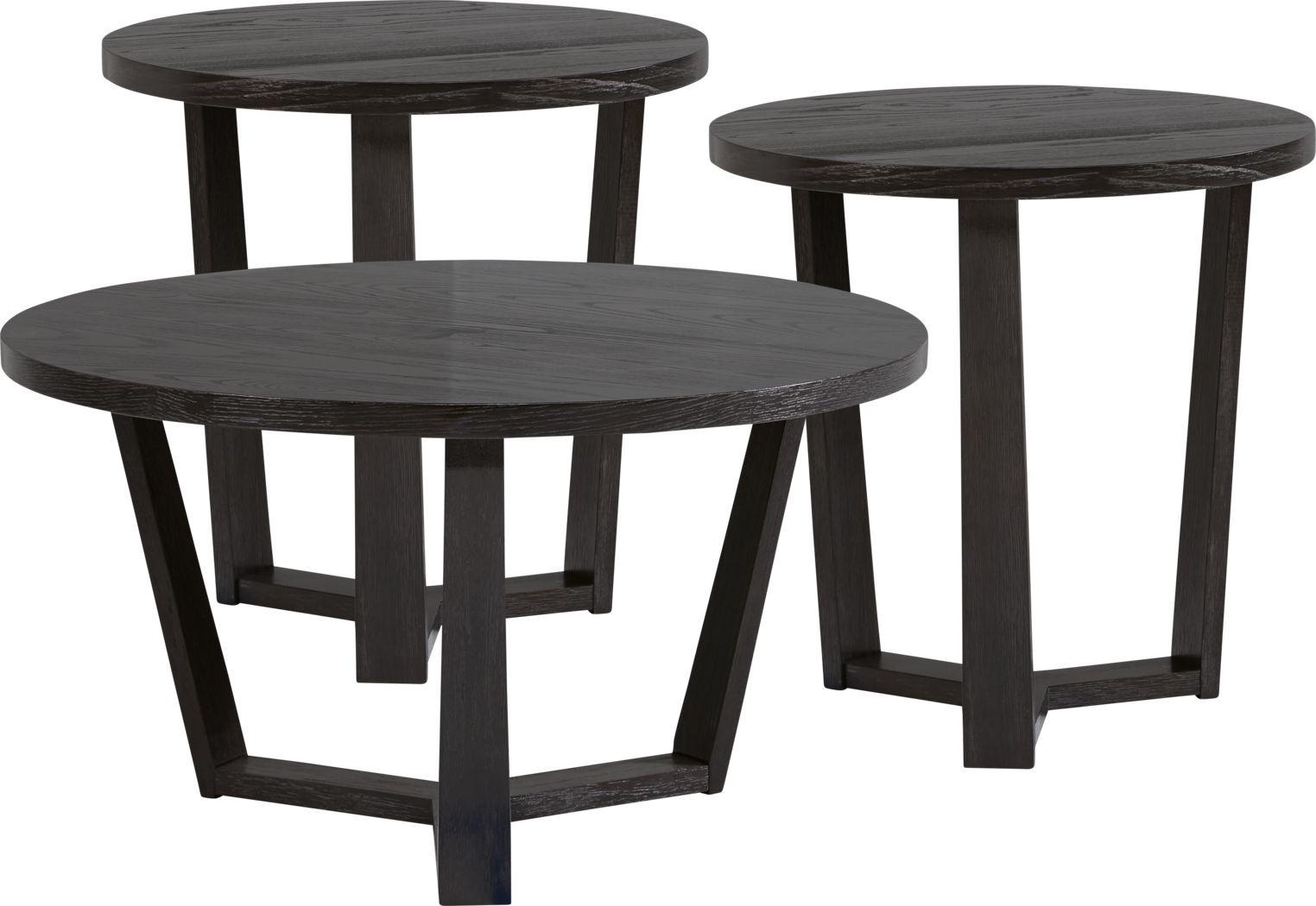 Rumie Dark Brown 3 Pc Table Set