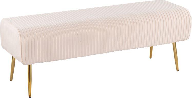 Runnymede Cream Accent Bench