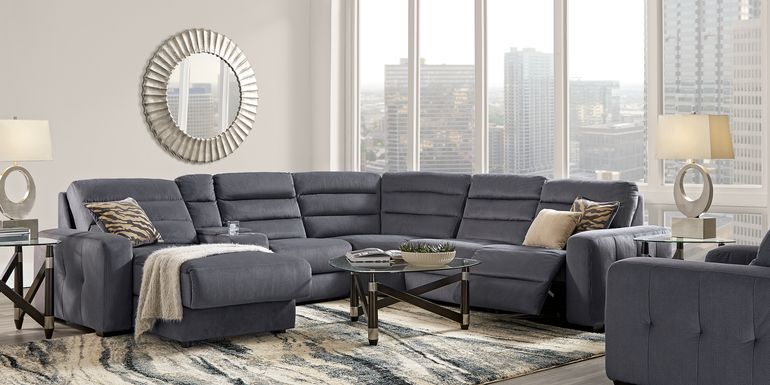 Runyon Canyon Navy 6 Pc Power Reclining Sectional