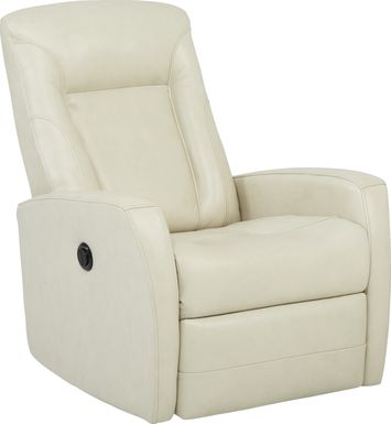 Ruperto Beige Leather Power Recliner