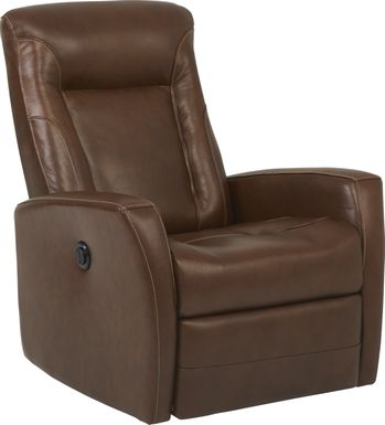 Ruperto Brown Leather Power Recliner