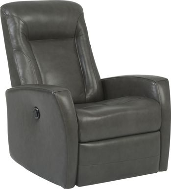 Ruperto Dark Gray Leather Power Recliner