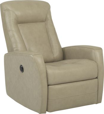 Ruperto Gray Leather Power Recliner