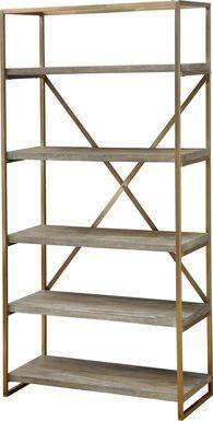 Rustic Goldie Brown Bookcase