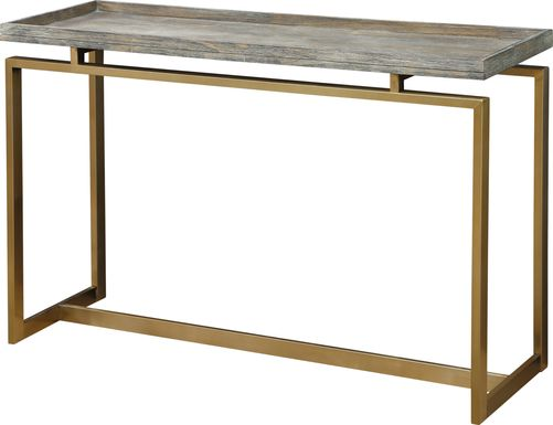 Rustic Goldie Brown Console Table