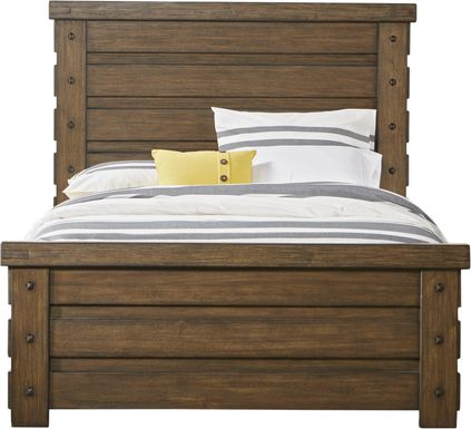 Rustic Haven Tobacco 3 Pc King Panel Bed