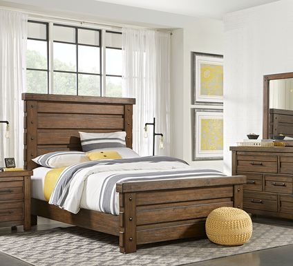 Rustic Haven Tobacco 5 Pc King Panel Bedroom
